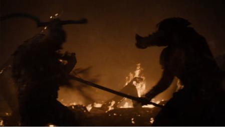 GoT combat fond flammes