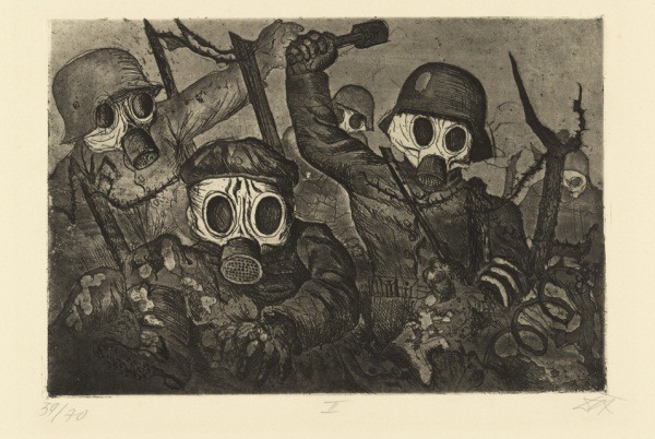 BB Otto Dix Shock Troops Advance under Gas from The War (1924)